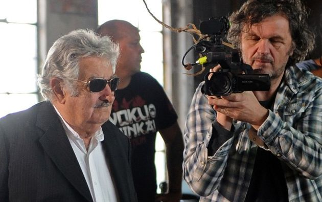 Kusturica llegó a Uruguay en los últimos días para realizar las últimas entrevistas a este exguerrillero. Foto: AFP