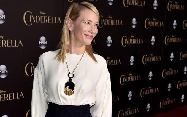 Cate Blanchett en la premiere de la película Cinderella. Foto: REUTERS