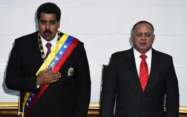 Maduro y Diosdado Cabello. Foto: AFP