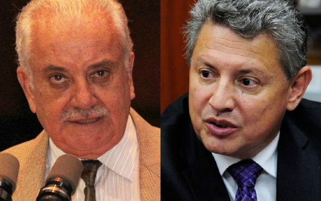 Galo Chiriboga, fiscal general, y Pedro Delgado.