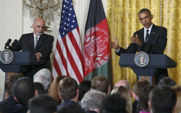 Obama recibió a Gani en el Despacho Oval, primero para una reunión en la que participaron también asesores y funcionarios de los dos países, y después para otro encuentro privado. Fotos: REUTERS.
