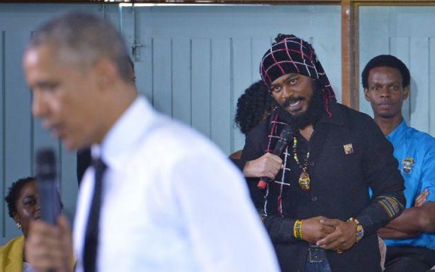 Miguel Williams abordó al presidente de EE.UU. sobre si se convertiría en el campeón de la marihuana. Foto: AFP