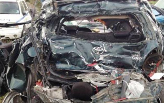 Aún no se determinan las causas exactas del accidente. Foto: Ecuavisa.