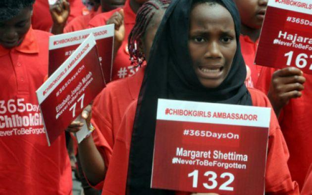 Amnistía Internacional señala que Boko Haram es responsable del secuestro de al menos 2.000 mujeres y niñas desde principios de 2014. Foto: AFP
