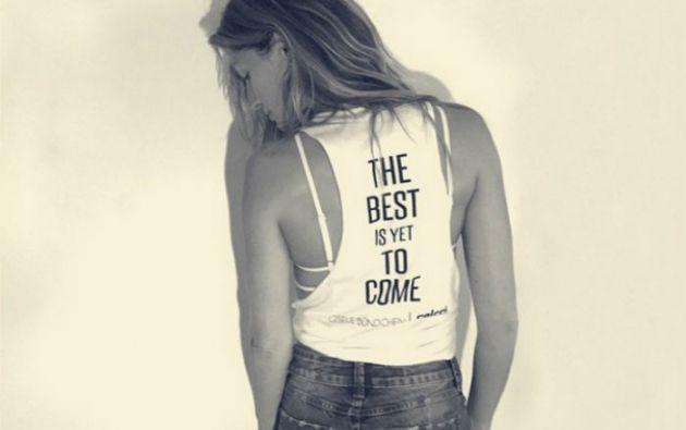 """""""Lo mejor está por venir"""" fue el mensaje que la brasileña publicó en su cuenta de Instagram."""