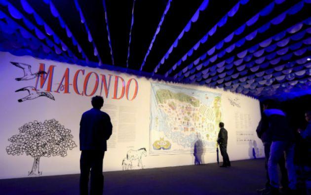 Macondo, el mundo imaginario de García Márquez en la Feria del Libro de Bogotá. Foto: REUTERS