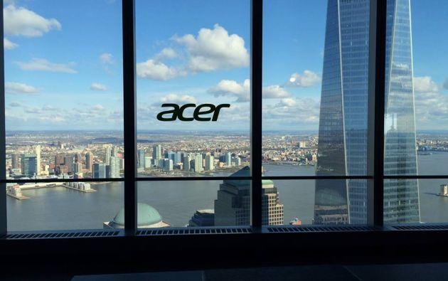 """La compañía tecnológica taiwanesa presentó su nueva gama en un evento en la prensa en el edificio Cuatro del World Trade Center, en la llamada """"zona cero"""". F"""
