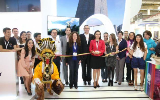 Apertura del stand de Ecuador en la WTM de Sao Paulo. Foto: Ministerio de Ecuador