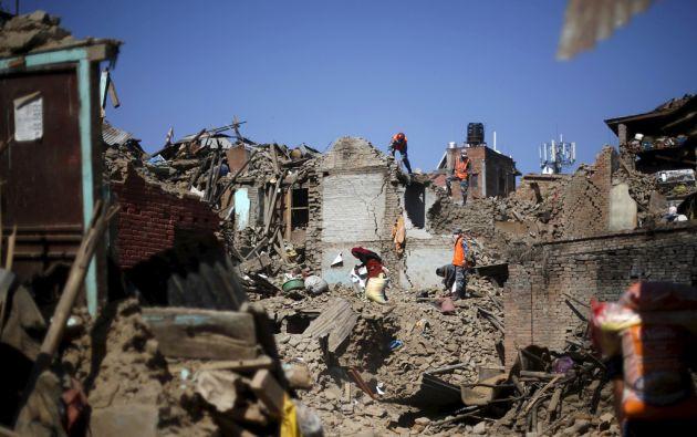 El sismo registrado en Nepal destruyó unas 200.000 casas y dejó otras 186.000 dañadas. Foto: REUTERS