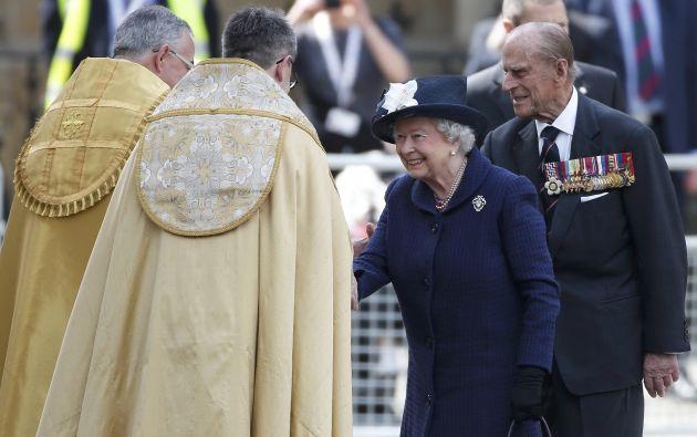 El arzobispo de Canterbury Justin Welby, líder espiritual de la Iglesia anglicana, ofició la ceremonia.  Foto: REUTERS.