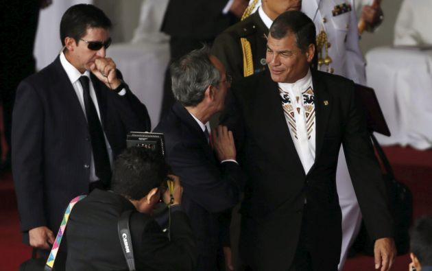 El presidente Rafael Correa asistió a la ceremonia. Foto: REUTERS