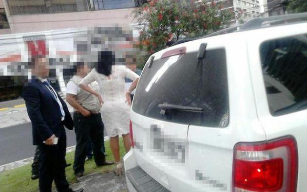 La asambleísta María Esperanza Galván fue detenida el pasado domingo. Foto: Fiscalía del Ecuador