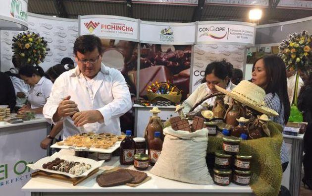 El VII Salón del Chocolate se inauguró este 29 de mayo en Quito. Foto: Twitter.