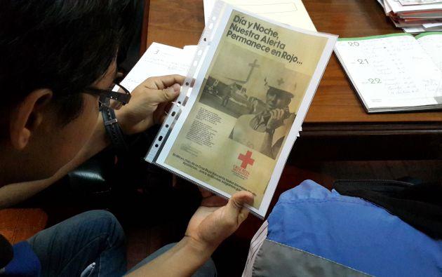 Promoción de la Cruz Roja Guayas en la visita del Papa Juan Pablo II, 1985.Foto:Vistazo