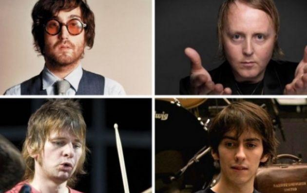 Los hijos de los Beatles. Arriba: Sean Lennon, James McCartney. Abajo: Zak Starkey y Dhani Harrison.