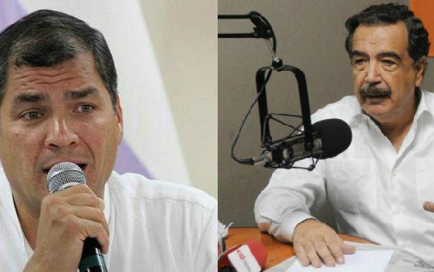 El alcalde Nebot dice que no le cree al presidente Correa. Fotos: Ecuavisa.