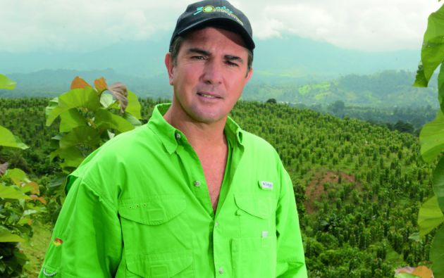 Fernando Torres pretende nutrir al sector exportador de teca con las 57 hectáreas que tiene su compañía. Foto: César Mera