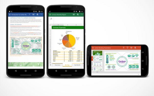 Las apps de Wor, Excel y Power Point son gratuitas, pero los suscriptores de Office 365 disponen de funciones premium.