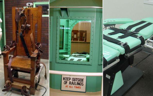 Formas de ejecución: silla eléctrica, cámara de gas e inyección letal.