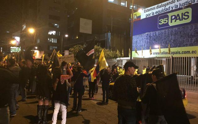 Manifestaciones en Quito. Twitter / @mromerorivera