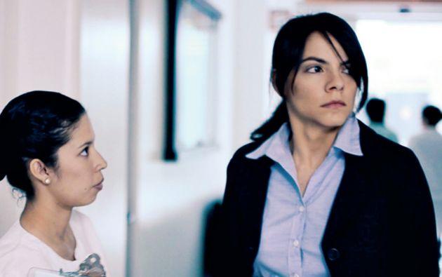 """Angela Peñaherrera en una escena de """"La Descorrupción""""."""