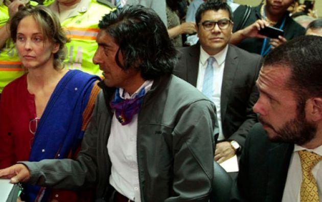 Manuela Picq, Carlos Pérez (centro) y Juan Pablo Albán (derecha). Foto API.
