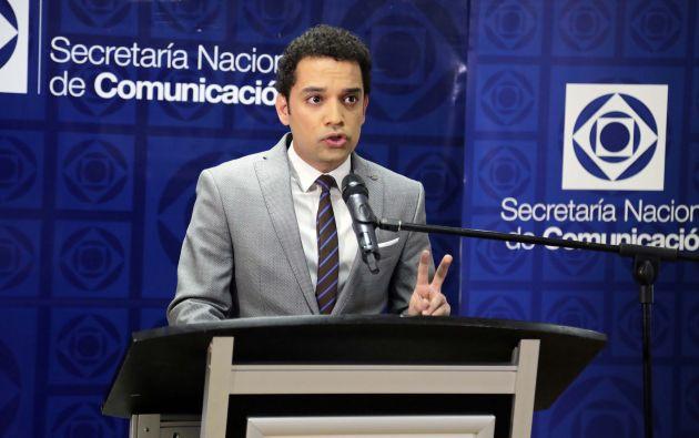 El vocero de la Secretaría Nacional de Comunicación (SECOM) Stefano Iannuzzelli. Foto: Flickr / El Ciudadano.