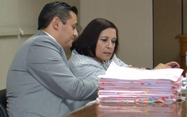 Cecilia Armas, fiscal general subrogante intervino en la audiencia de vinculación. Foto: Fiscalía General del Estado.