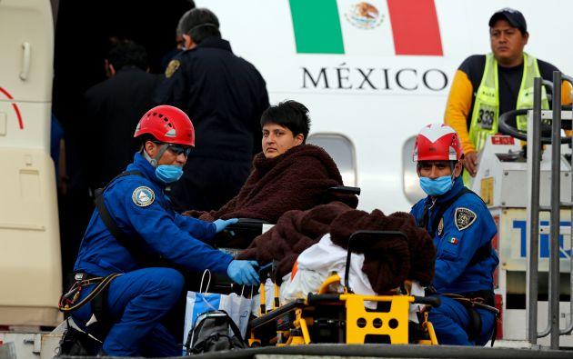El 18 de septiembre pasado, fueron trasladados otros turistas que resultaron heridos en el ataque. Fotos: REUTERS.