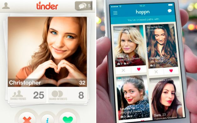 Tinder y Happn agana popularidad entre los jóvenes amantes a la tecnología.