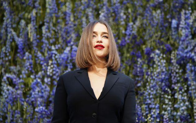 Emilia Clarke en París. Foto: REUTERS.