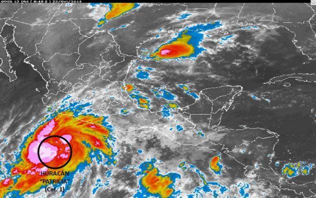 El fenómeno provocaría posibles deslaves en zonas de montaña e inundaciones en zonas bajas. Foto: Servicio Meteorológico Nacional de México.