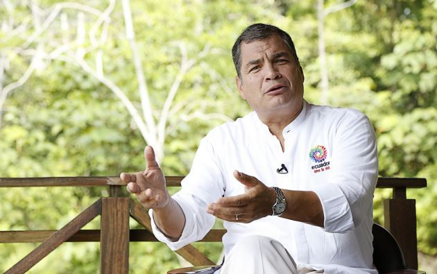 Correa dijo que desea tomar un periodo de descanso. Foto: Flickr / Presidencia de la República.