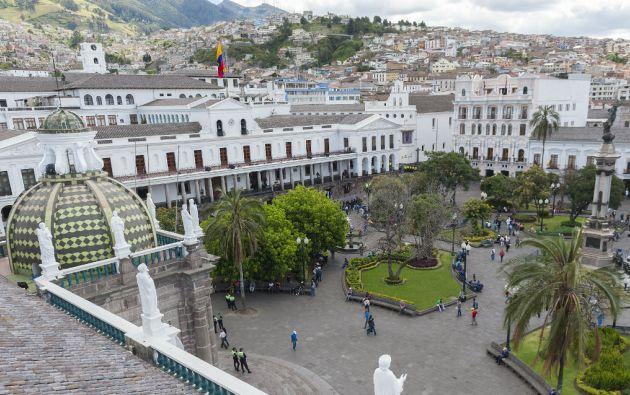 La Plaza de la Independencia, en el corazón del Centro Histórico. Foto: César Pasaca