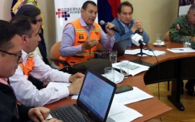 COE descartó que deshielos del Chimborazo se asocien con proceso eruptivo. Foto: Secretaría de Gestión de Riesgos.