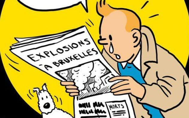 Iustración del dibujante Vladdo, a propósito de los atentados en Bruselas. Foto: Internet
