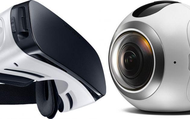 Las gafas Gear VR y la cámara Gear 360.