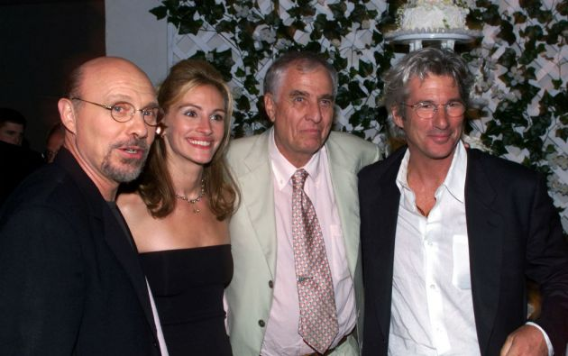 Garry Marshall acompañado por los actores Héctor Elizondo, Julia Roberts y Richard Gere, con quienes hizo varias películas. Foto: Reuters
