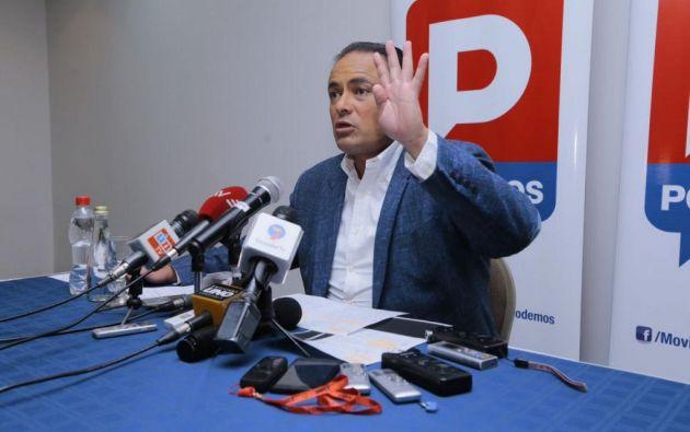 Carrasco señaló que si su nombre no es considerado en la designación del candidato presidencial por la Unidad, no se postulará a la Asamblea. Foto: API.