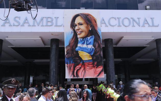 """La exmandataria argentina recibió hoy el premio """"Manuela Sáenz"""" en la Asamblea Nacional. Foto: API."""