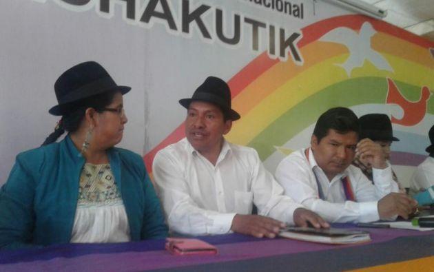 La precandidata Lourdes Tibán, confía en la decisión de Acuerdo Nacional por el Cambio. Foto: API.