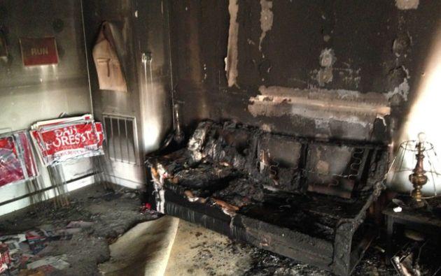 EE.UU.- Nadie resultó herido en el incendio provocado, ocurrido durante la madrugada del domingo en la sede del partido en el condado de Orange. Foto: Agencias