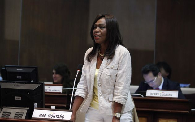 Según el oficialismo, la asambleísta de CREO no siguió el procedimiento en su solicitud. Foto: Asamblea Nacional.