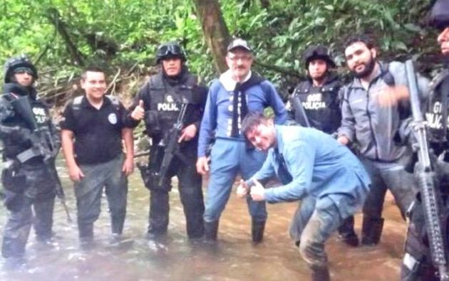 Johannes Wagenknecht permaneció ocho días secuestrado cerca de la frontera de Ecuador con Colombia. Foto: Ministerio del Interior.