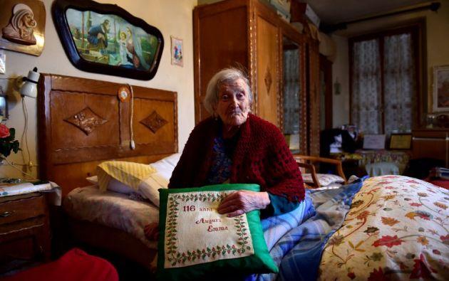 Emma Morano ha atravesado 3 décadas y ha visto 11 jefes de la Iglesia Católica. Foto: AFP
