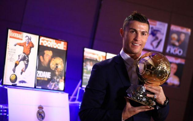 Ronaldo, de 31 años, logra por cuarta vez la prestigiosa recompensa. Foto: AFP.