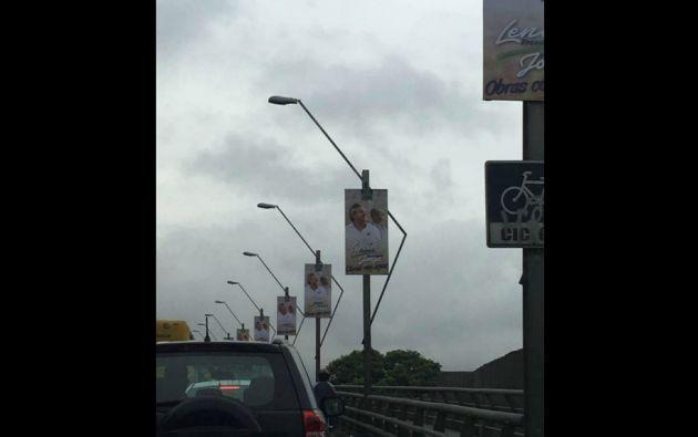 Este tipo de anuncios está regulado tanto por el Municipio como por el CNE. Foto: @EstebanNoboaC.