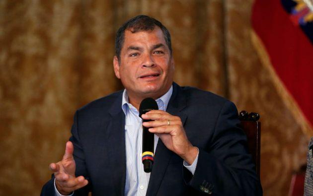 Rafael Correa disfrutó de altos niveles de popularidad por su carisma y por la bonanza petrolera de los 7 primeros años de gobierno. Foto: Archivo