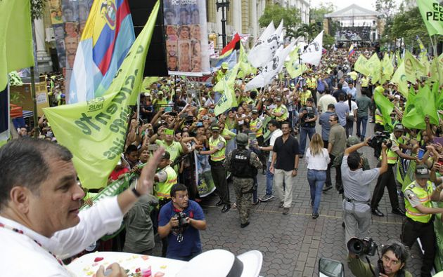 El 15 de enero pasado, Rafael Correa y su partido recordaron 10 años en el poder. Foto: Presidencia