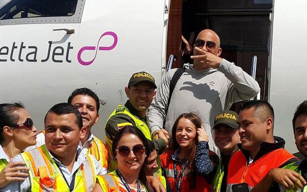 """El protagonista de la saga """"Rápido y Furioso"""" llegó a Medellín en un avión privado."""